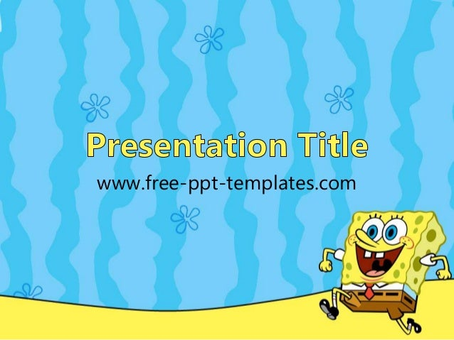 spongebob powerpoint template spongebob power point template