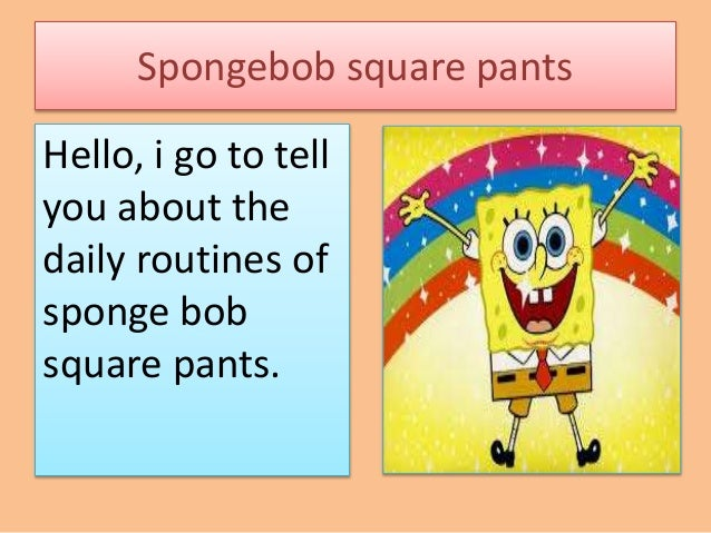 Spongebob daily routines for Spongebob powerpoint template