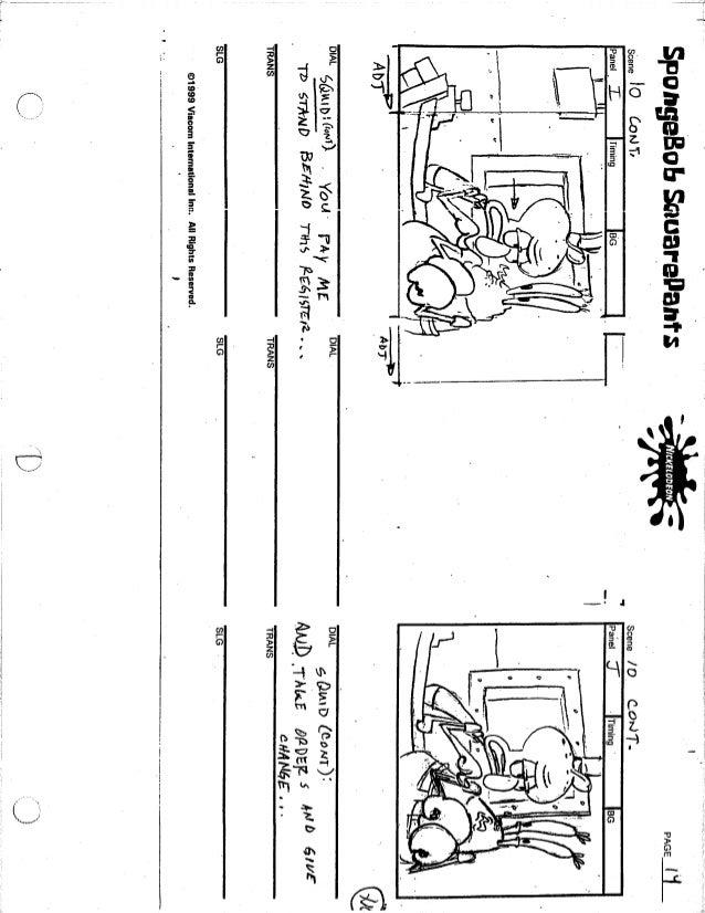 Spongebob squarepants script for educational purposes בובספוג מכנסמרו…
