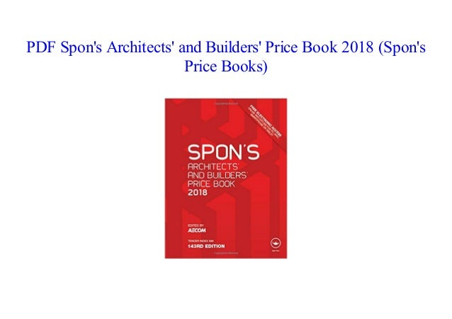 Spon'S Architects' And Builders' Price Book 2015 PDF