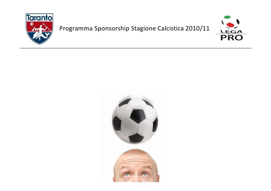 Programma Sponsorship Stagione Calcistica 0 0/ ProgrammaSponsorshipStagioneCalcistica2010/11