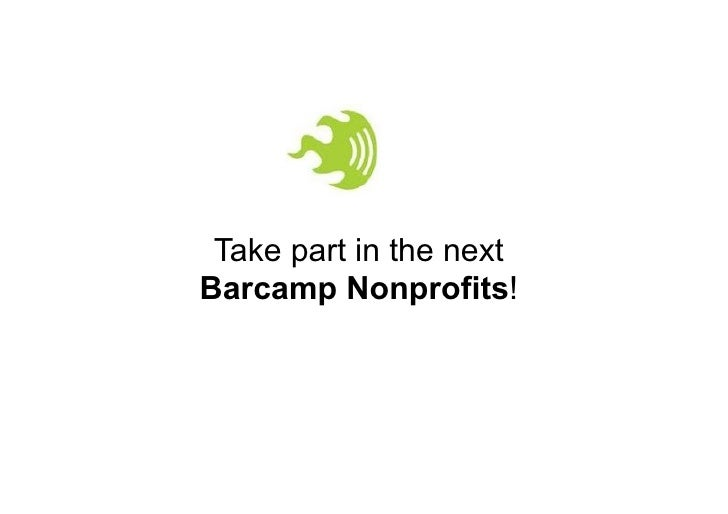 Take part in the nextBarcamp Nonprofits!