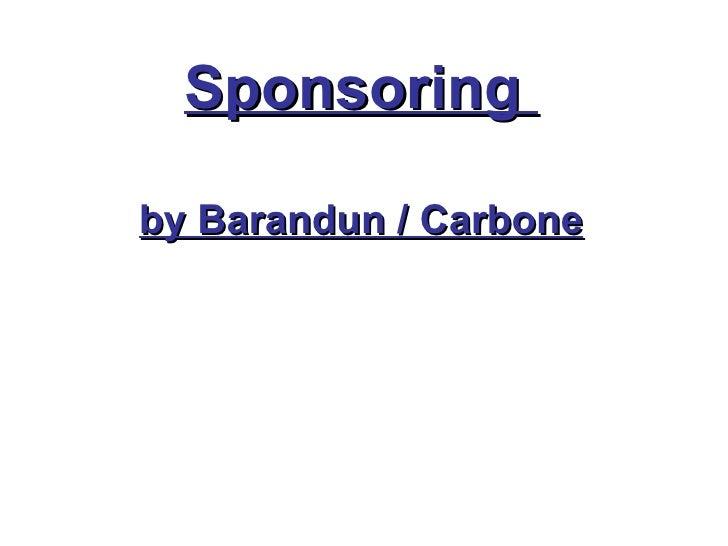 Titel Sponsoring  by Barandun / Carbone