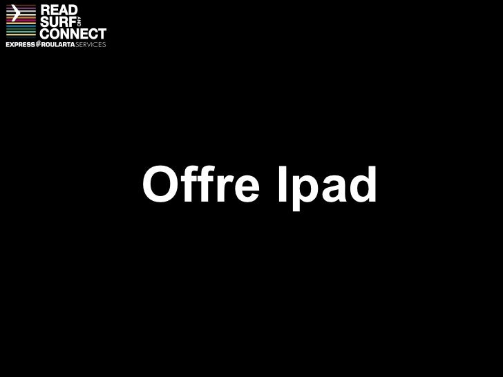 Offre Ipad