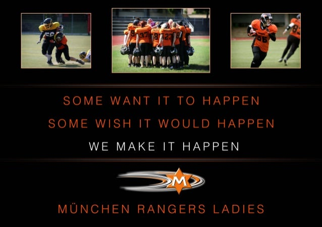 München Rangers Ladies - Sponsors Wanted!
