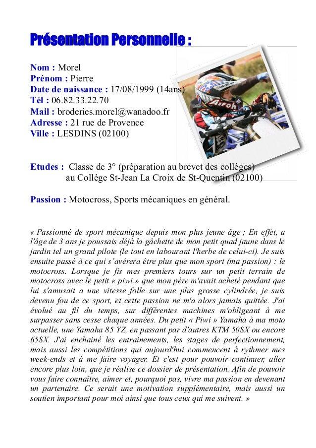 sponsoring pierre morel  17 2014  motocross