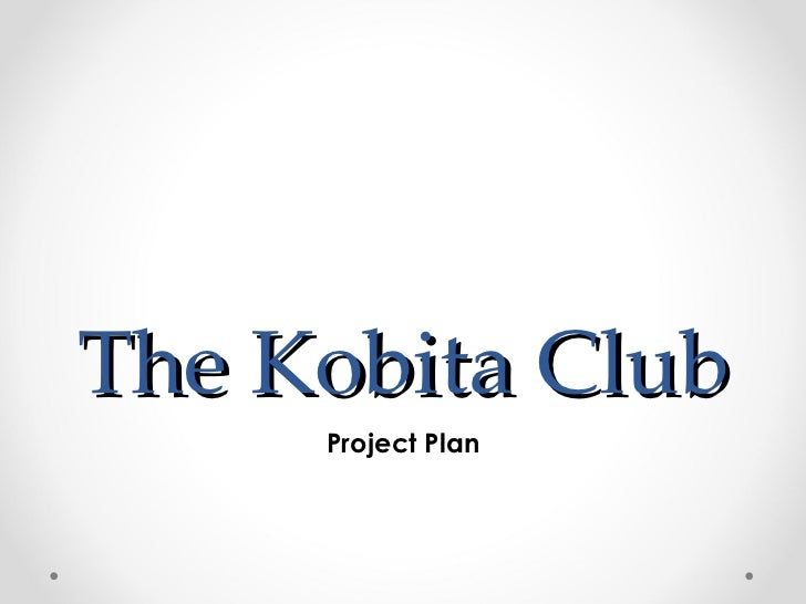 The Kobita Club     Project Plan