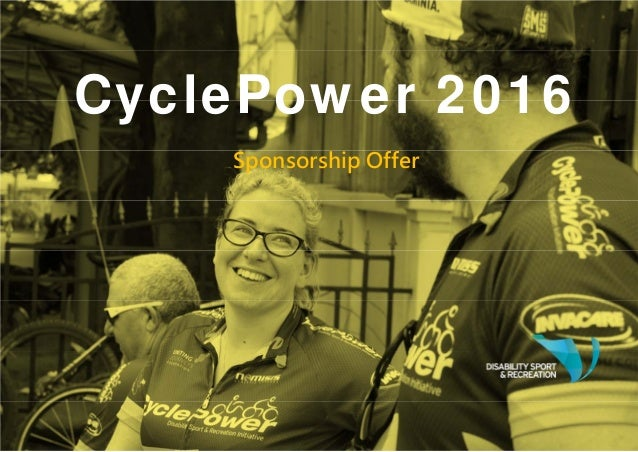 CyclePower 2016 Sponsorship Offer