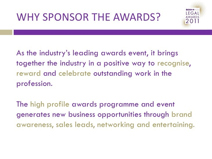 Scottish Legal Awards Sponsorship Proposal