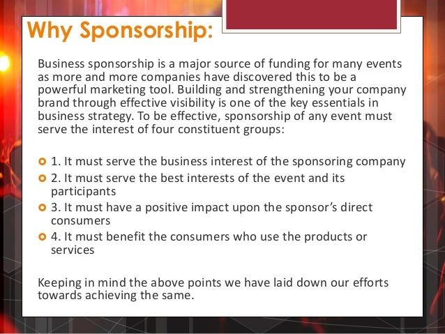 Sponsorship proposal for COCO GRANDE 2014 – Sponsorship Proposals for Events