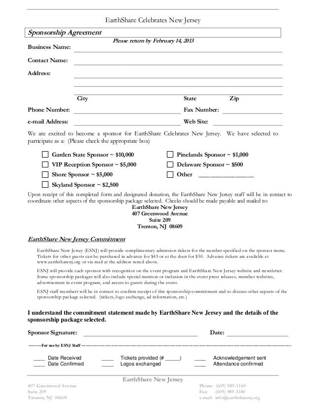 sponsorship agreement template - Ukran.soochi.co