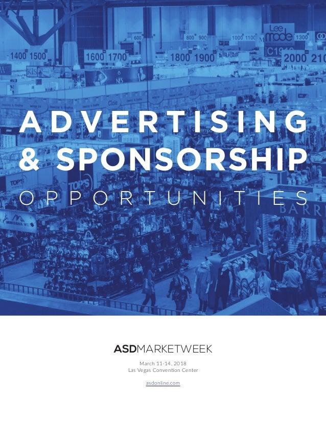 ASDMARKETWEEK March 11-14, 2018 Las Vegas Convention Center asdonline.com