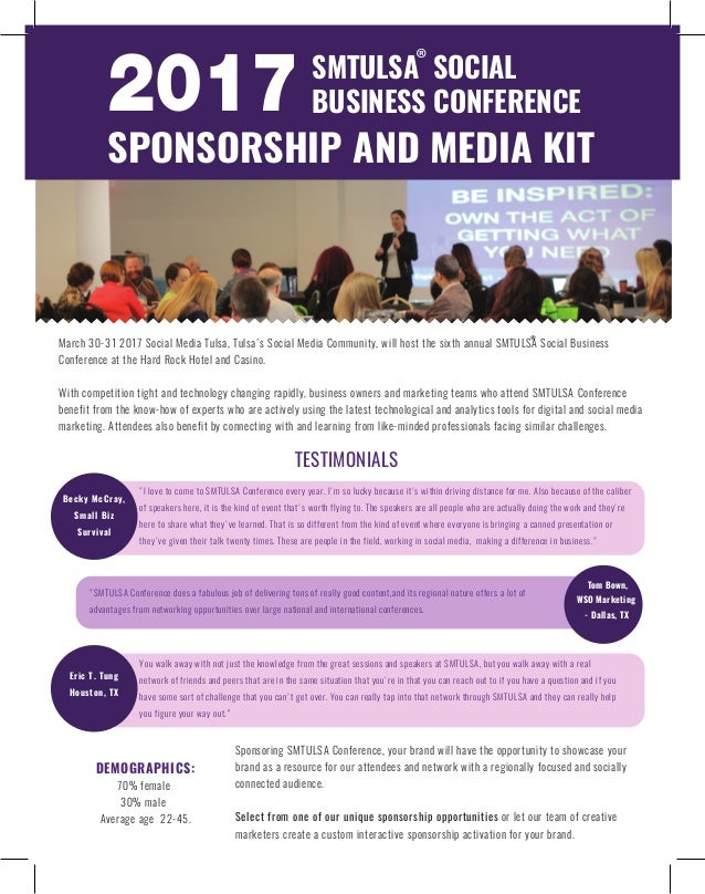 2017 smtulsa social business conference sponsorship opportunities 2017 smtulsa social business conference sponsorship opportunities demographics 70 female 30 male average age 22 45 thecheapjerseys Choice Image