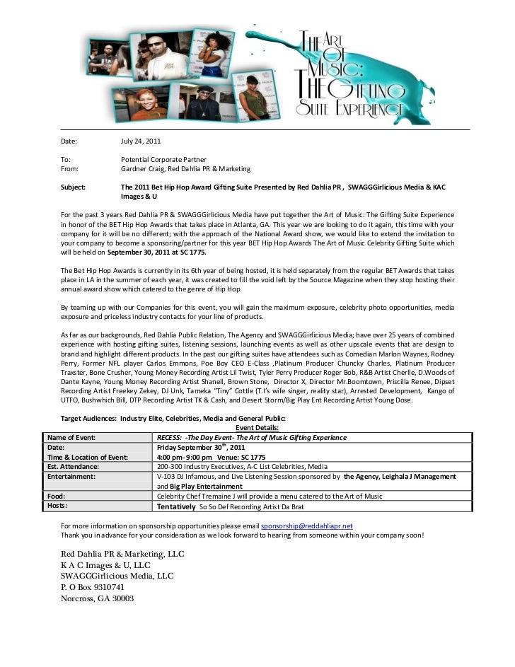 Sponsorship Letter – Corporate Sponsorship Letter