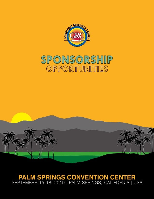 SPONSORSHIP PALM SPRINGS CONVENTION CENTER SEPTEMBER 15-18, 2019 | PALM SPRINGS, CALIFORNIA | USA