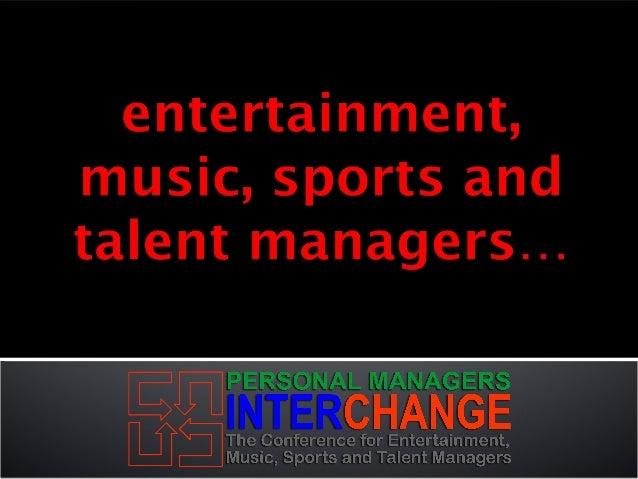 Personal Managers Interchange Sponsorship Slide 2
