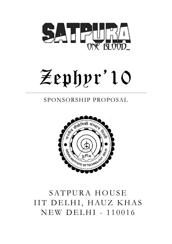 Zephyr'10 Sponsorship Proposal