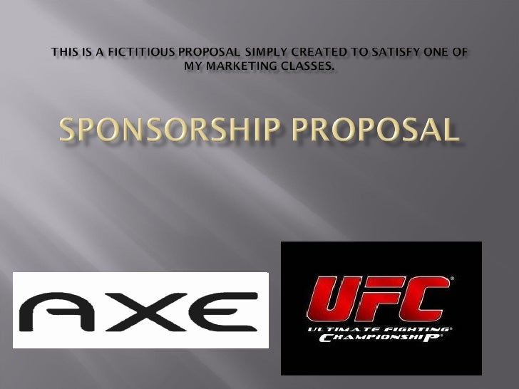 sponsorship proposal, Presentation templates