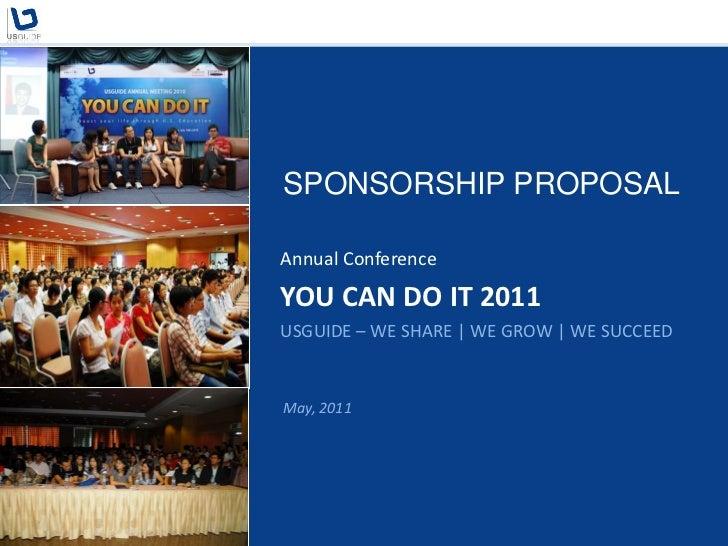 Sponsorship proposal you can do it 2011 owen vanderbilt – Sponsorship Proposals for Events