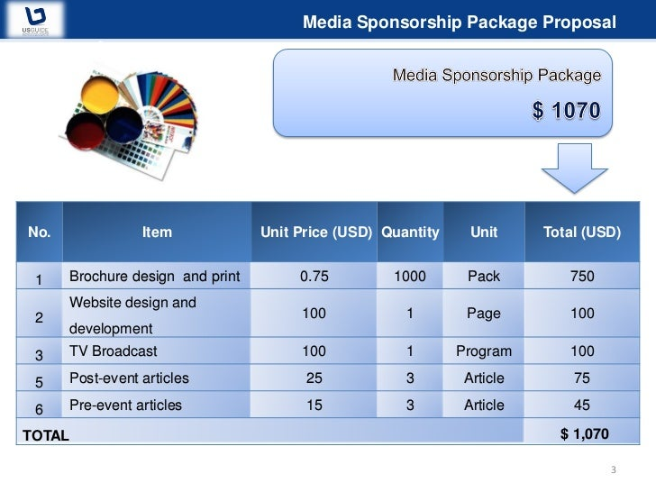 Sponsorship Proposal You Can Do It 2011 VNG Corp – Sponsorship Proposal Package