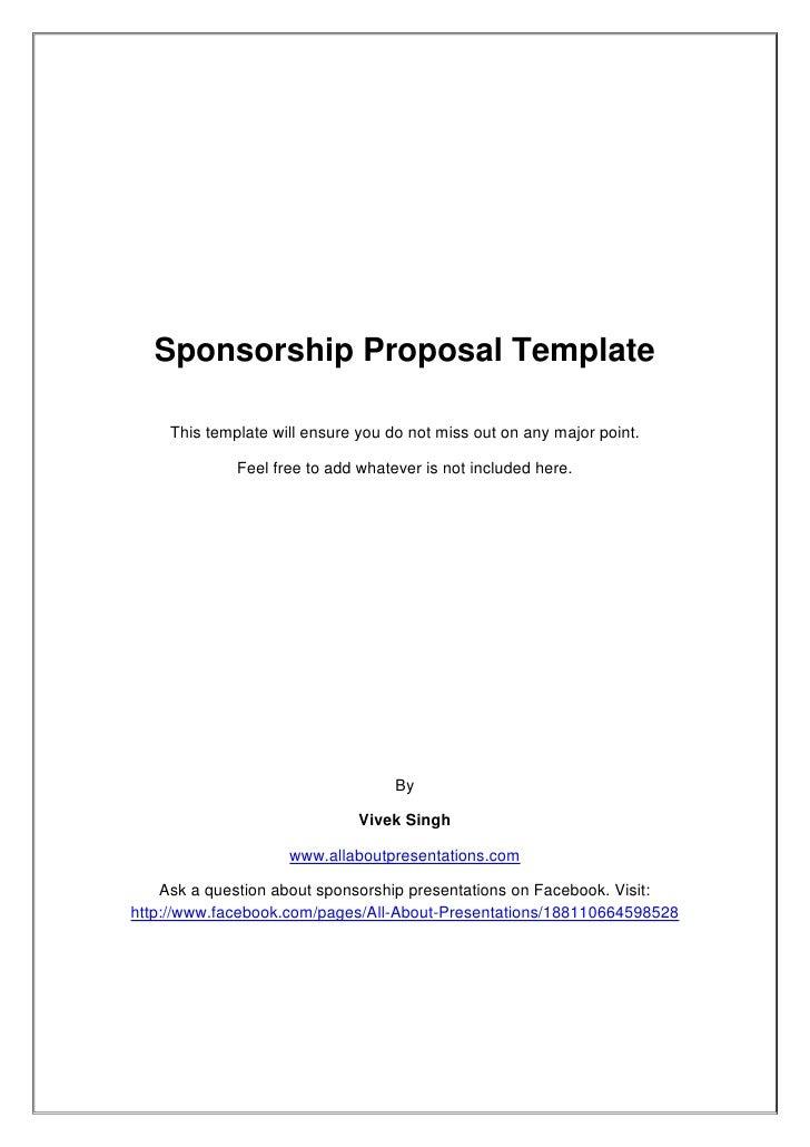 Sponsorship Proposal Template 8Q7B1yeV