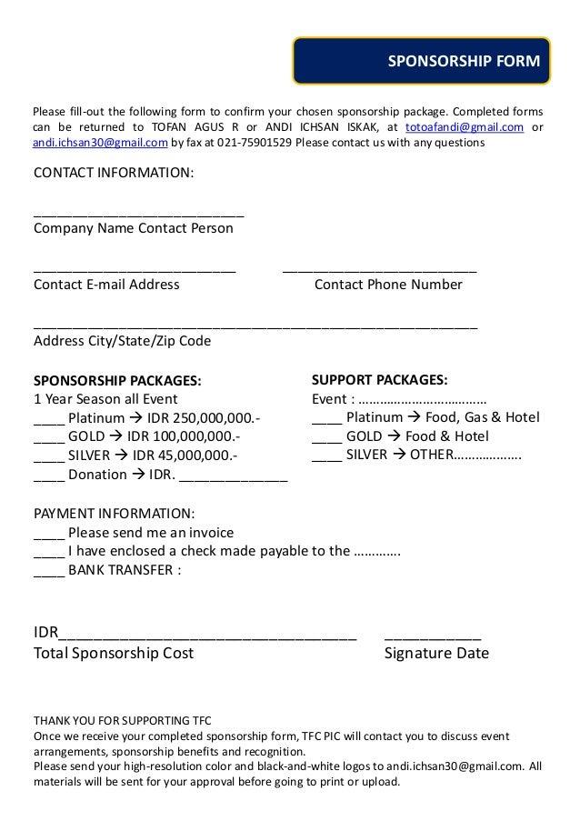 proposal untuk sponsor