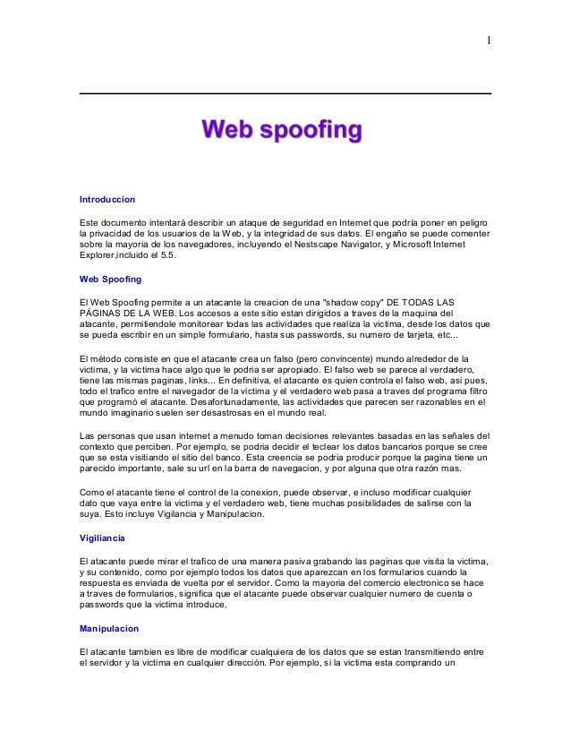 Introduccion Este documento intentará describir un ataque de seguridad en Internet que podría poner en peligro la privacid...
