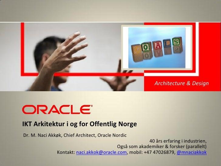 <Insert Picture Here>                                                             Architecture & Design                   ...
