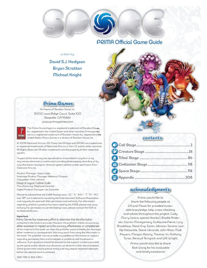 Spore galactic adventures official strategy guide ea pc mac.