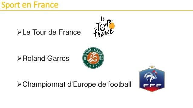 Sport en France Le Tour de France Roland Garros Championnat d'Europe de football