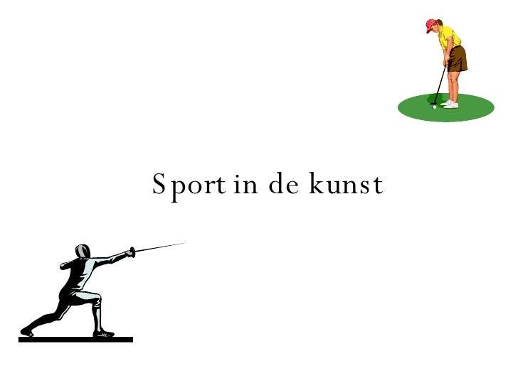 Sport in de kunst
