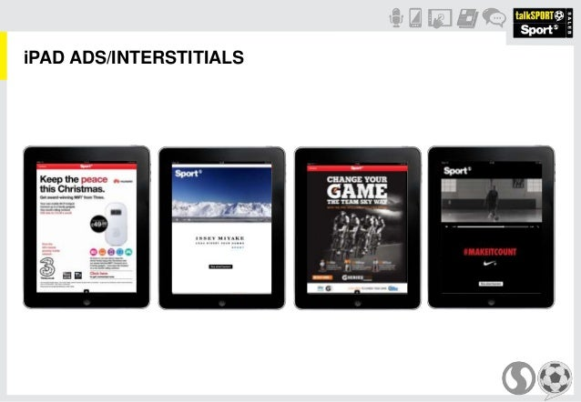 iPAD ADS/INTERSTITIALS