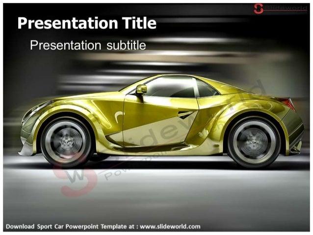 Sport Car Powerpoint Template Slide World