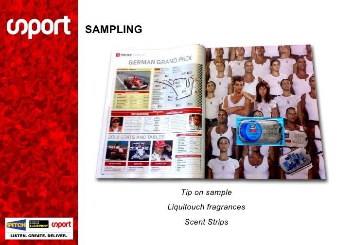 SAMPLING Tip on sample Liquitouch fragrances Scent Strips