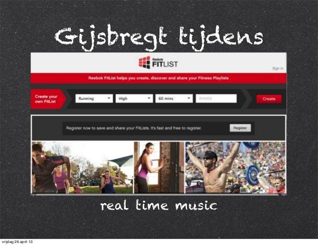 Gijsbregt tijdens real time music vrijdag 26 april 13