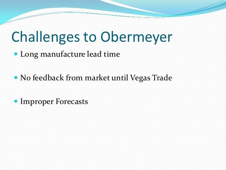 sport obermeyer ltd Obermeyer sport a strategic direction in forecasting introduction & summary klaus  harvard business school, sport obermeyer, ltd [2] janice h hammond, ananth .