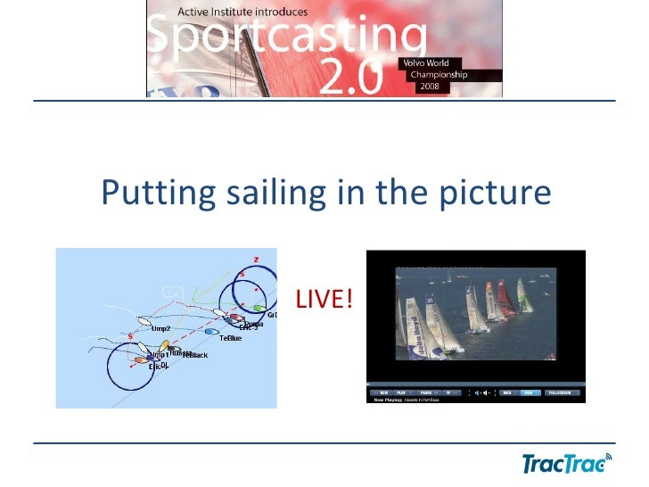Putting sailing in the picture LIVE!