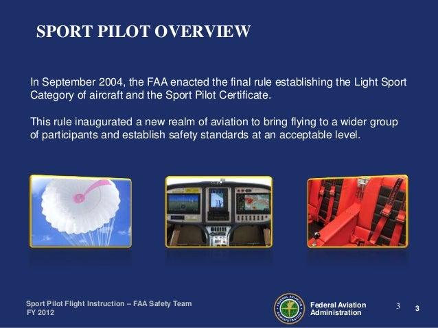 Sport Pilot Flight for Flight Instructors (CFIs)