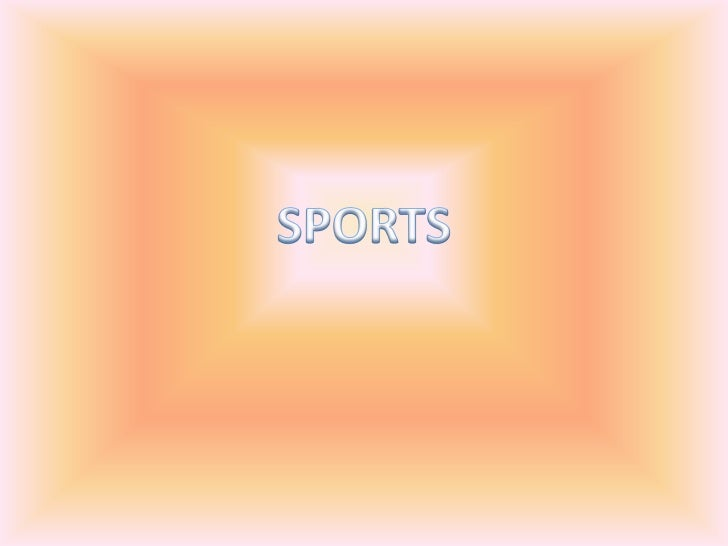SPORTS<br />