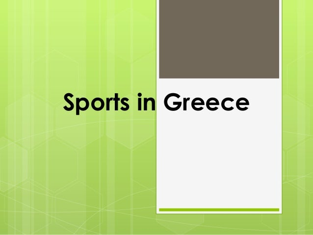 Sports in Greece