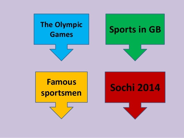 The Olympic Games Famous sportsmen Sports in GB Sochi 2014