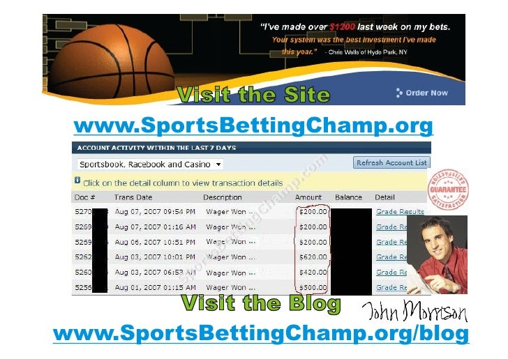 Sporting betting champ betting nhl picks against the spread