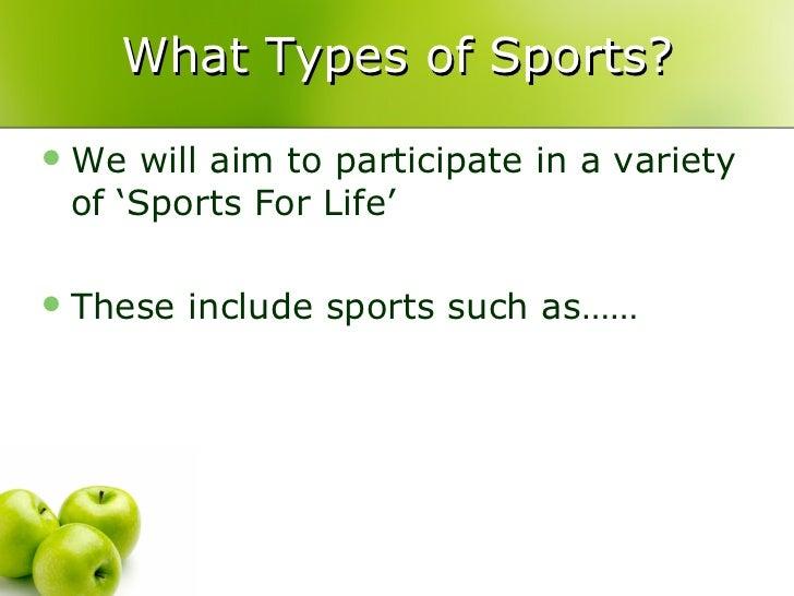 sports presentation topics