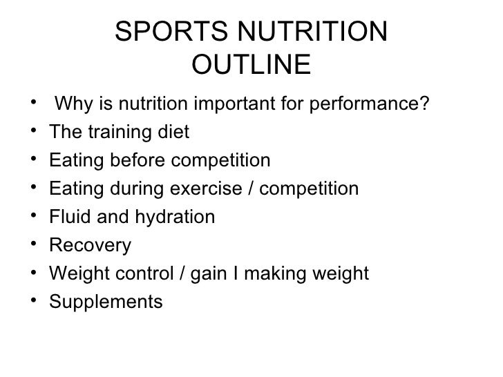 Sports nutrition research paper