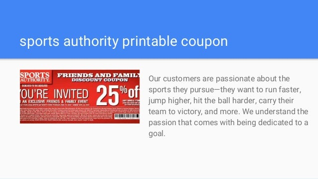 image about Sports Authority Printable Store Coupons titled Athletics authority coupon code 10 off 50 - Contemporary harmony kohls
