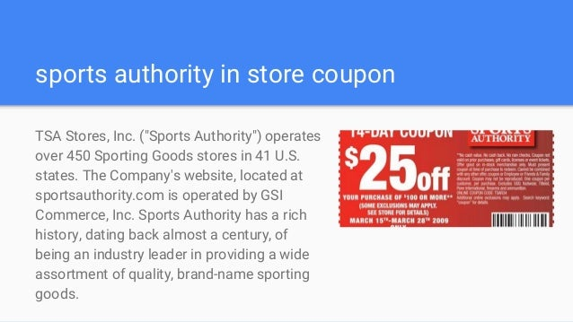 photo regarding Sports Authority Printable Coupon 25 Off called Sporting activities authority discount codes