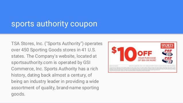 picture regarding Printable Coupon Sports Authority called Athletics authority discount coupons
