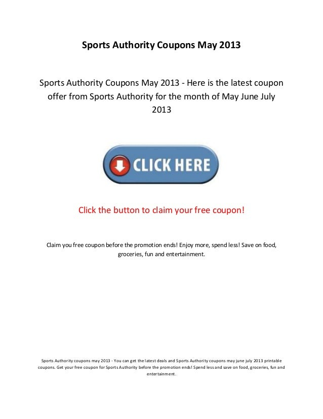 image regarding Printable Coupons Sports Authority referred to as Sports activities authority discount codes might 2013