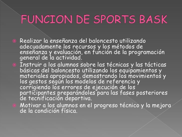 Sports bask Slide 2