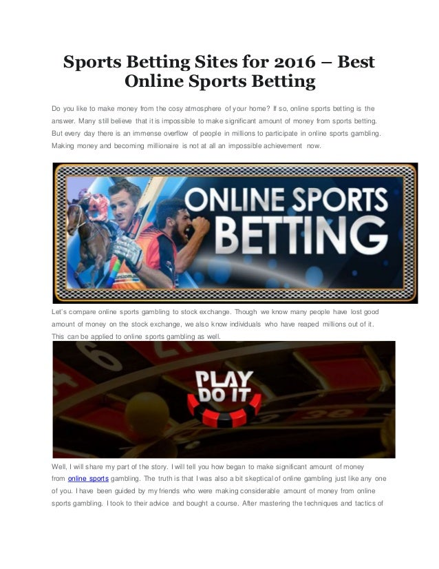 Sports Betting Online Sites